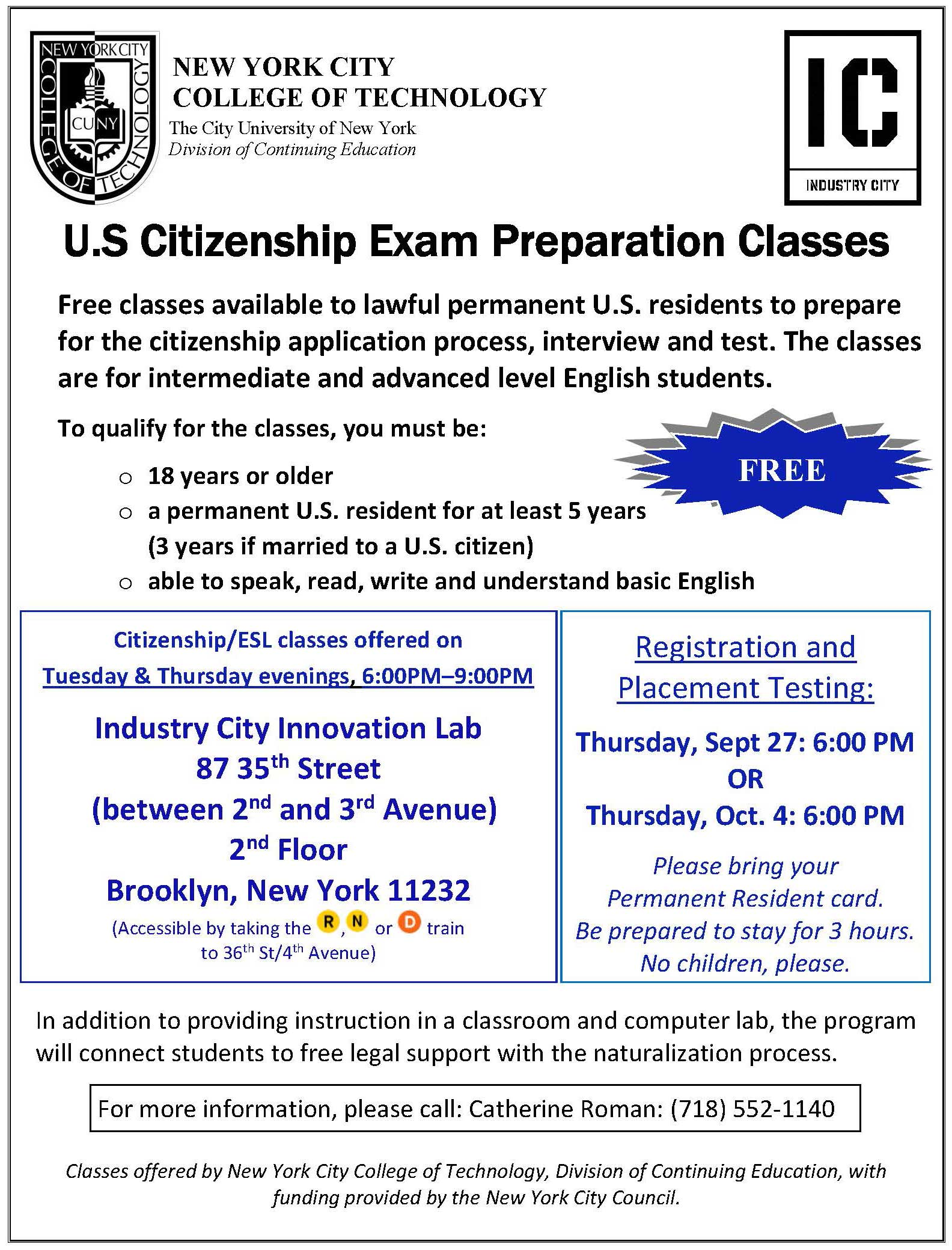 ESL Citizenship Flyer