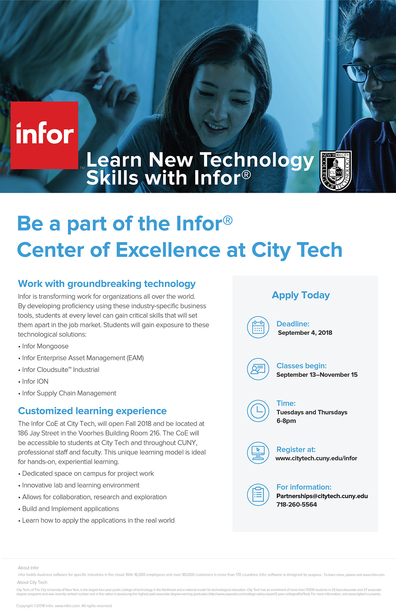 Free Infor TRaining at City Tech